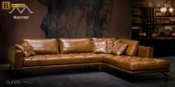 кожаный угловой диван для гостинной Нунзио