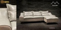 угловой кожаный диван Армандо с шезлонгом