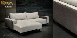 белый диван для гостинной натуральная кожа