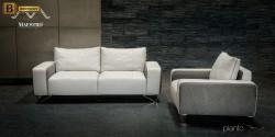 белая мебель для гостинной Пиано натуральная кожа