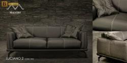 стильный кожаный черный диван купить