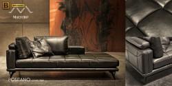 модульный кожаный диван Позитано