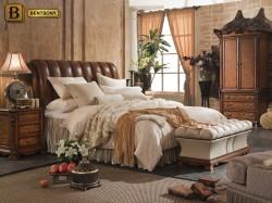 спальня Феникс А в классическом стиле изголовье натуральная кожа