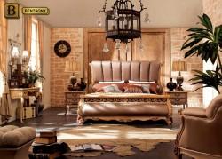 кровать Феникс H в классическом стиле с резными элементами