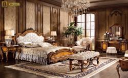 Классические спальни Дакота М18 массив дерева цвет орех