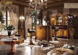 Домашний бар Дакота М18 Массив Дерева в классическом стиле цвет орех