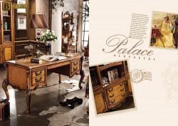 Письменный стол Дакота М18 массив дерева натуральная кожа цвет орех