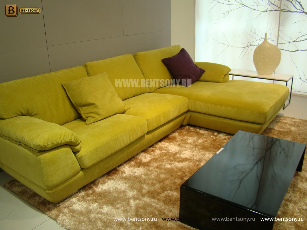 угловой яркий тканевый диван Сполетти