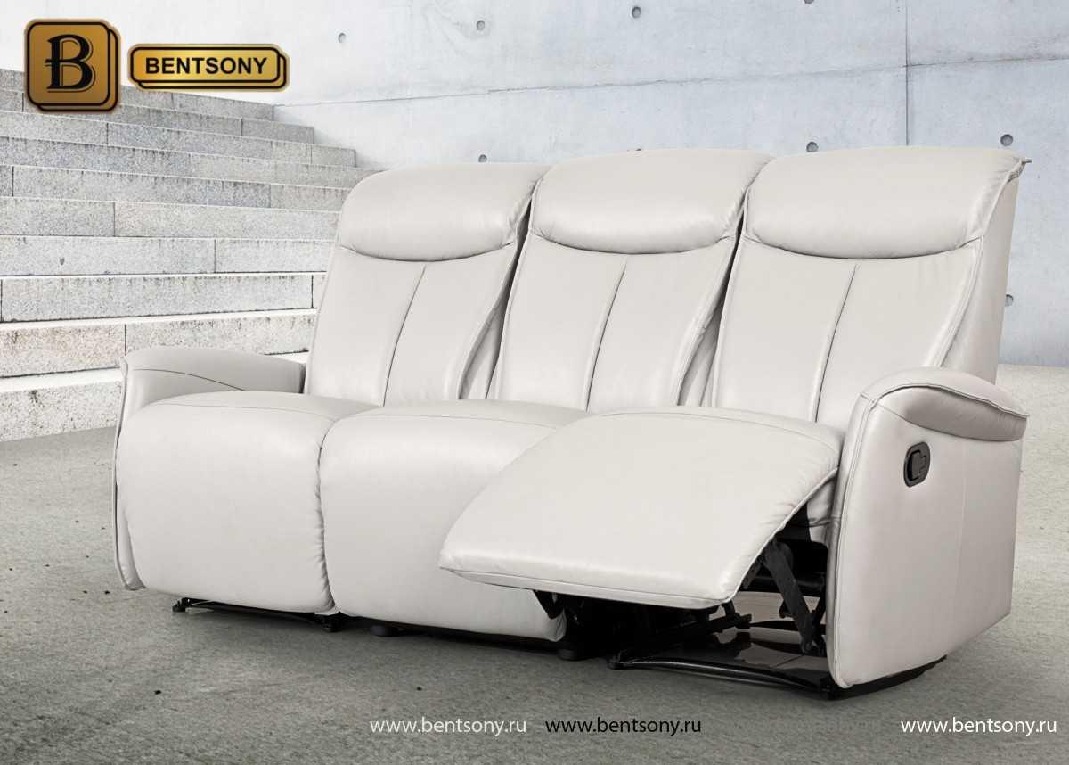 белый кожаный диван Мобиус
