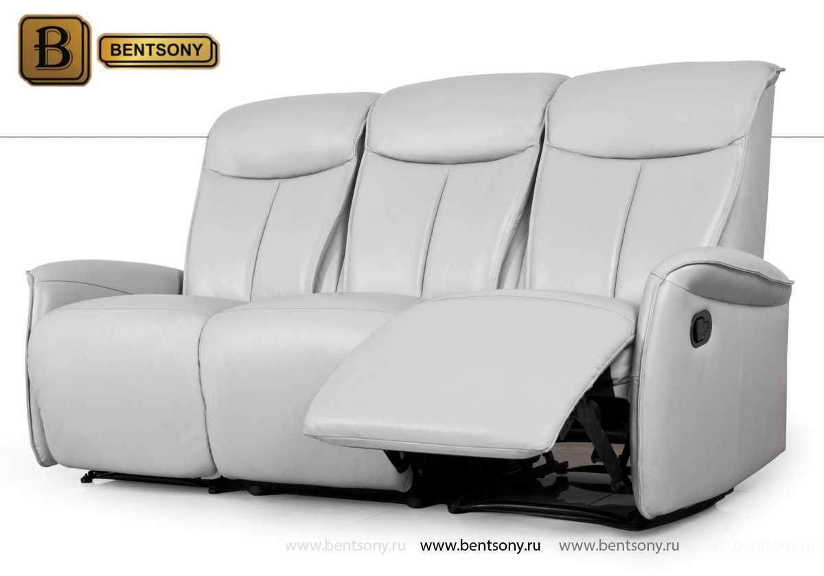 прямой кожаный диван Мобиус