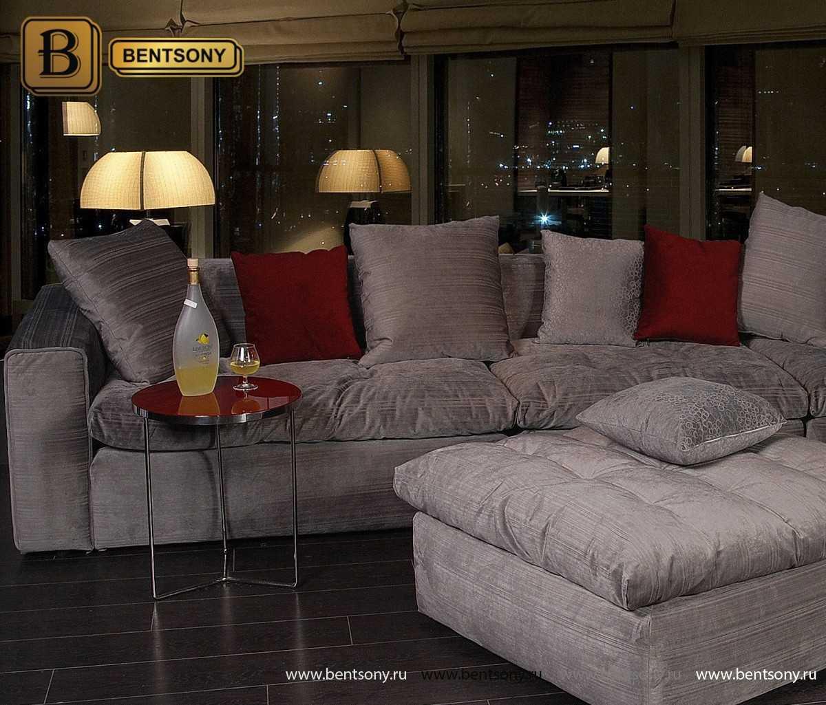 Серый цвет диванов Бениамино