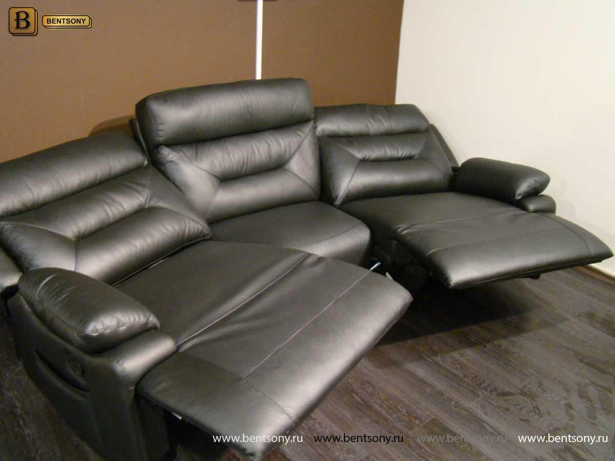 диван из натуральной кожи Амелия