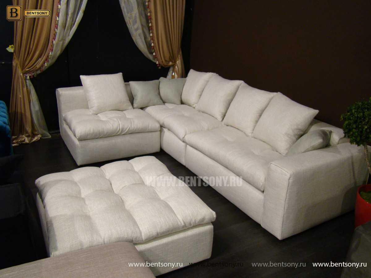 Элитный диван Бениамино в рогожке для гостиной