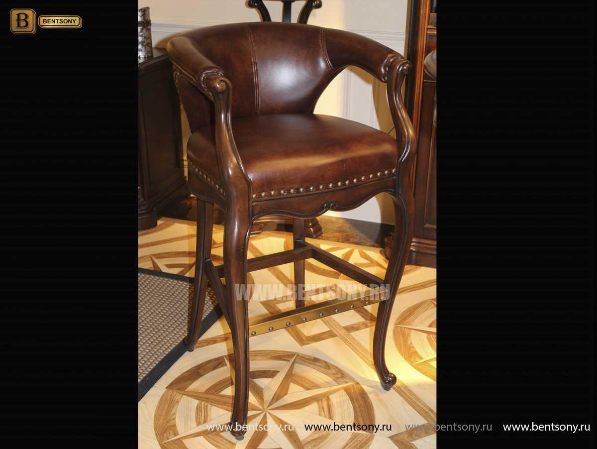 Барный стул (кресло) Монтана А (Натуральная кожа, массив дерева)