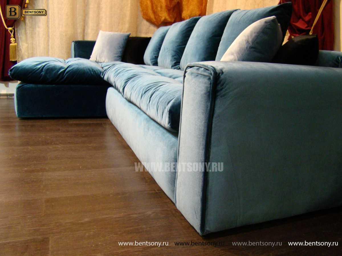 Мягкие Подушки Углового Дивана Бениамино  в современном стиле для гостиной