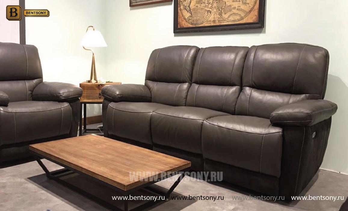 Кресло Бриатико (Реклайнер, Натуральная Кожа, Алькантара) каталог мебели