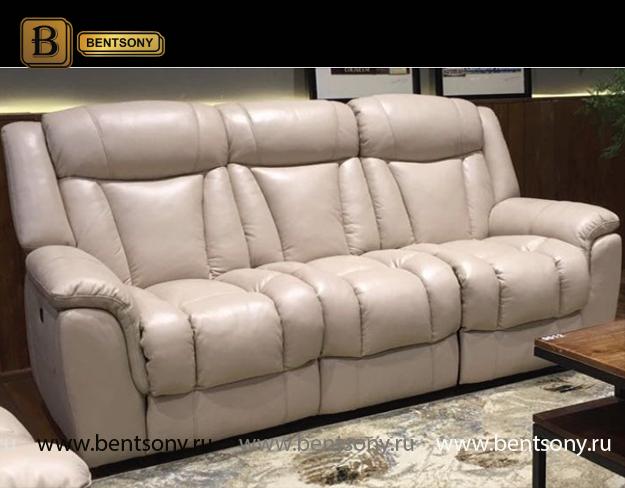 белый прямой диван Луче