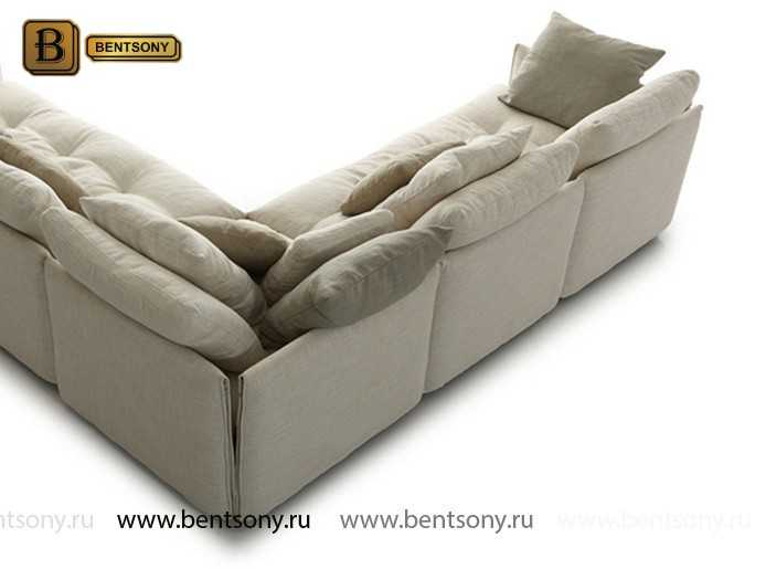 тканевый диван с подушками купить