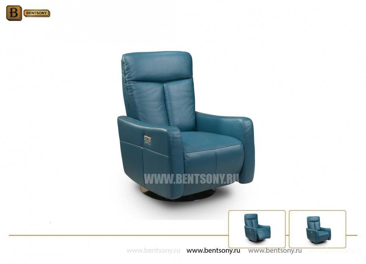 Кресло Фабио (Реклайнер, Натуральная кожа) для дома