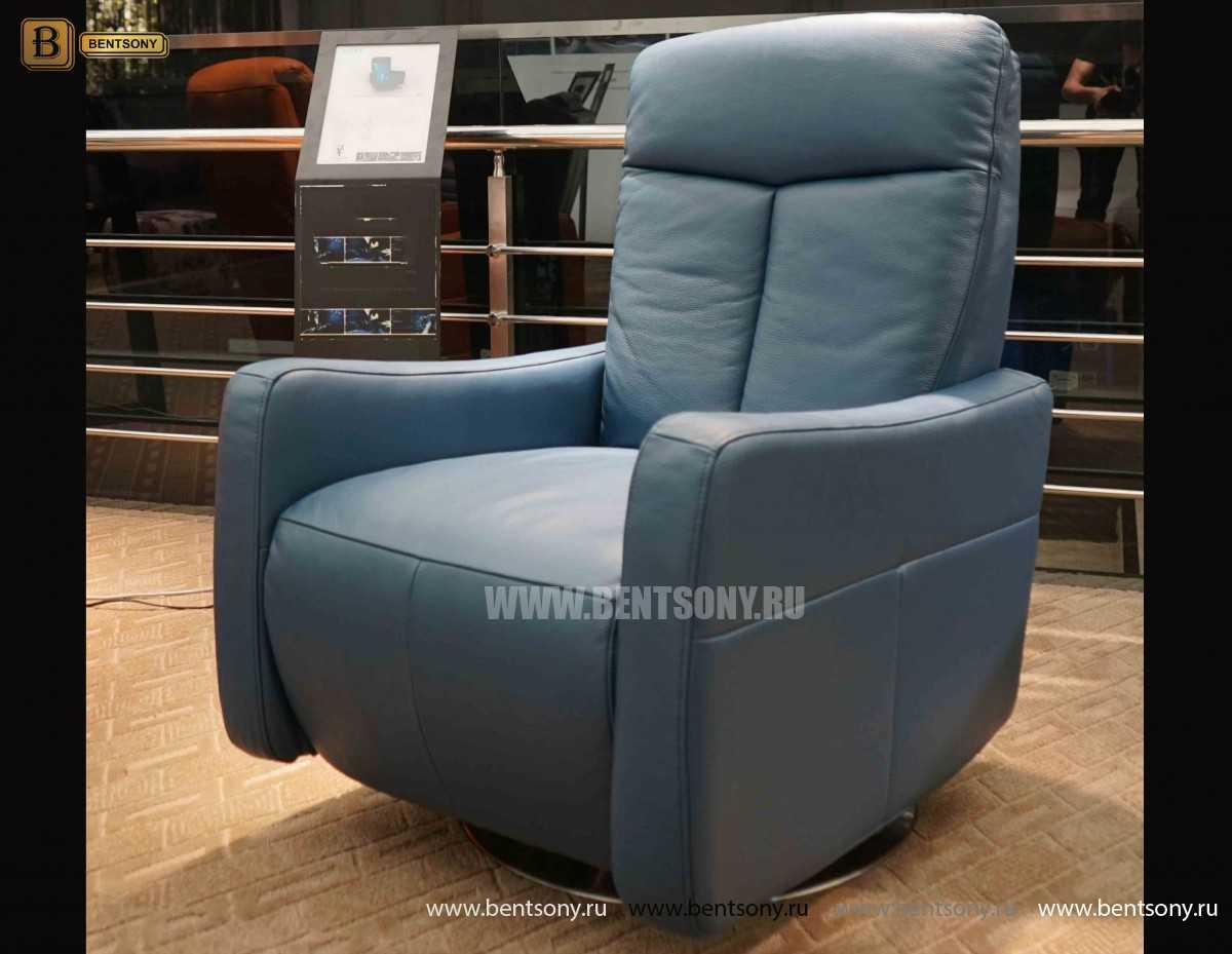 Кресло Фабио (Реклайнер, Натуральная кожа) магазин Москва