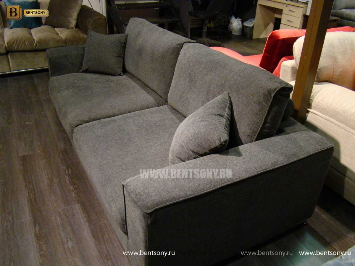 Диван Лучиано (Прямой с Пуфом) каталог мебели с ценами