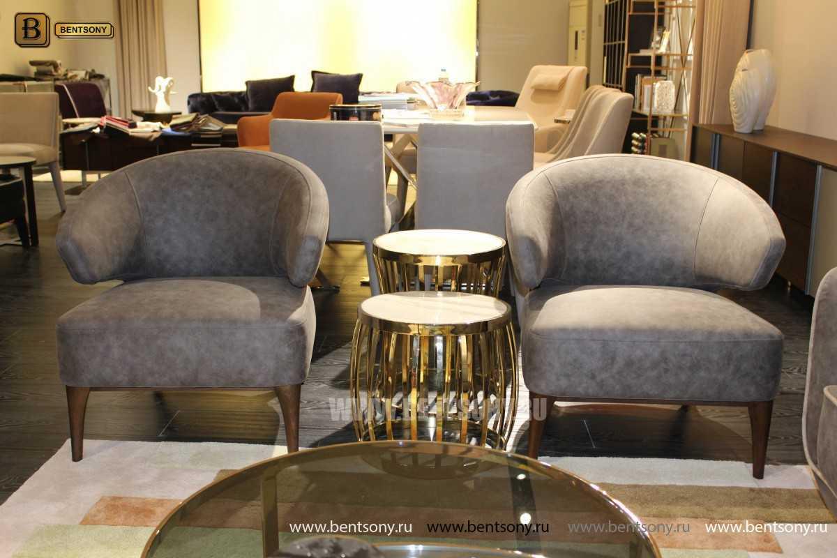Кресло Лукас (Ткань, деревянные ножки)