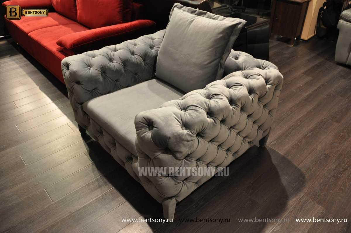 Кресло Скиллачи (Серый, Капитоне) для дома
