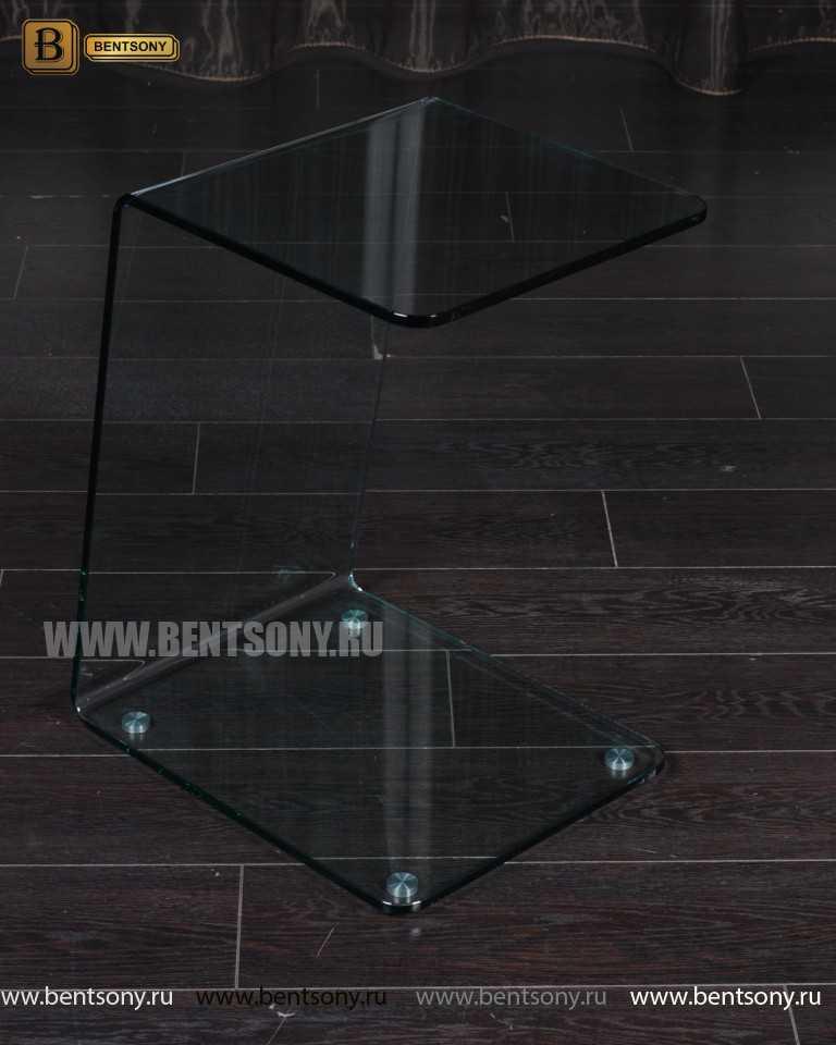 Стол Журнальный (Гнутое прозрачное стекло) каталог мебели с ценами