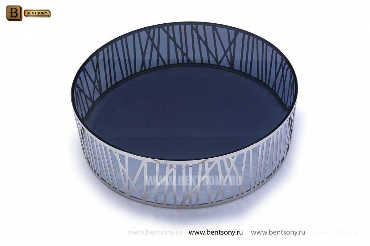 Стол Журнальный (Круглый, стеклянная столешница, Тонированное стекло) каталог мебели с ценами