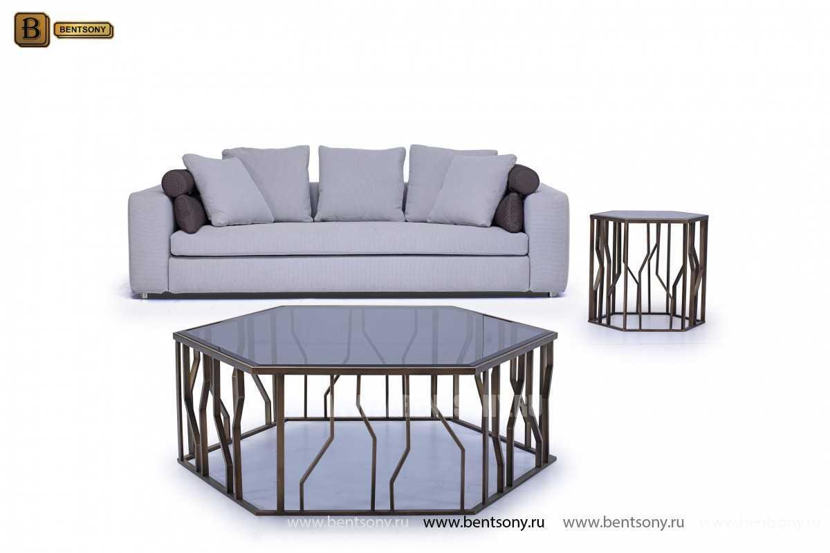 Стол Журнальный (Круглый, стеклянная столешница) для загородного дома