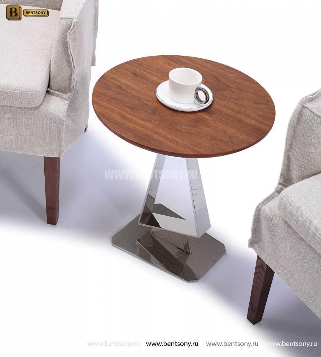 Стол Приставной (Круглый, Деревянная столешница) изображение