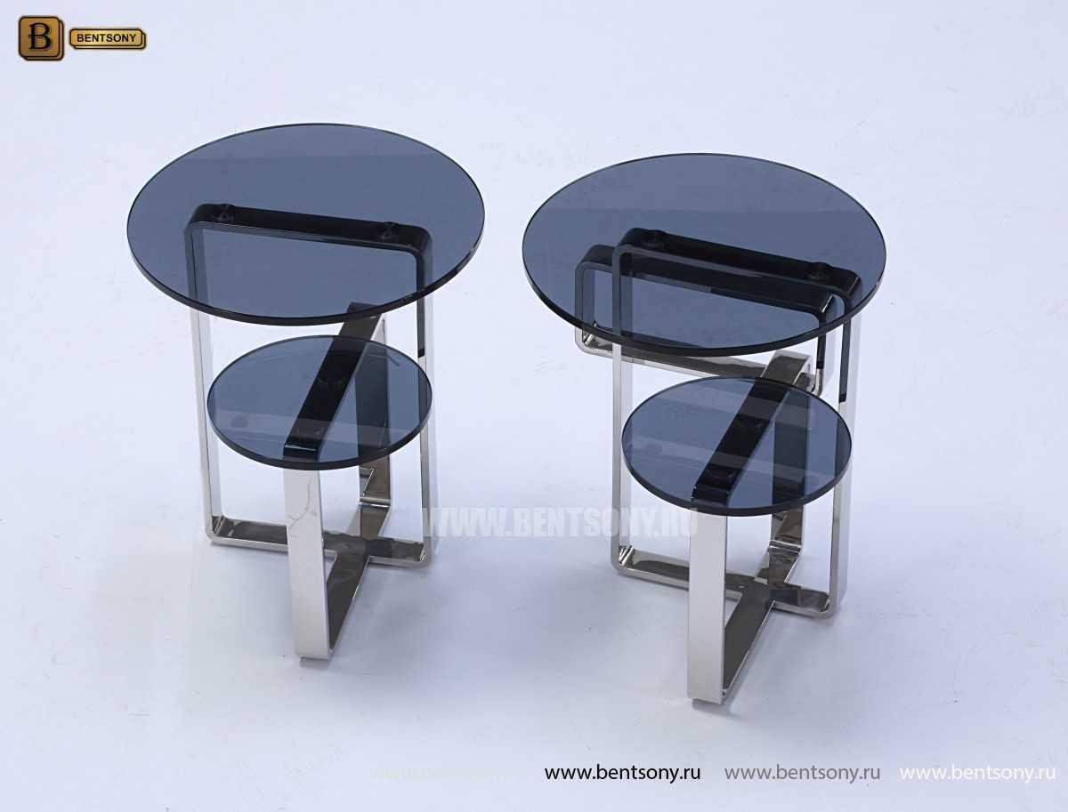 Стол Приставной (Круглый, тонированное стекло)