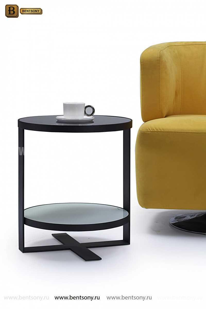 Стол Приставной (Круглый, тонированное стекло) для дома
