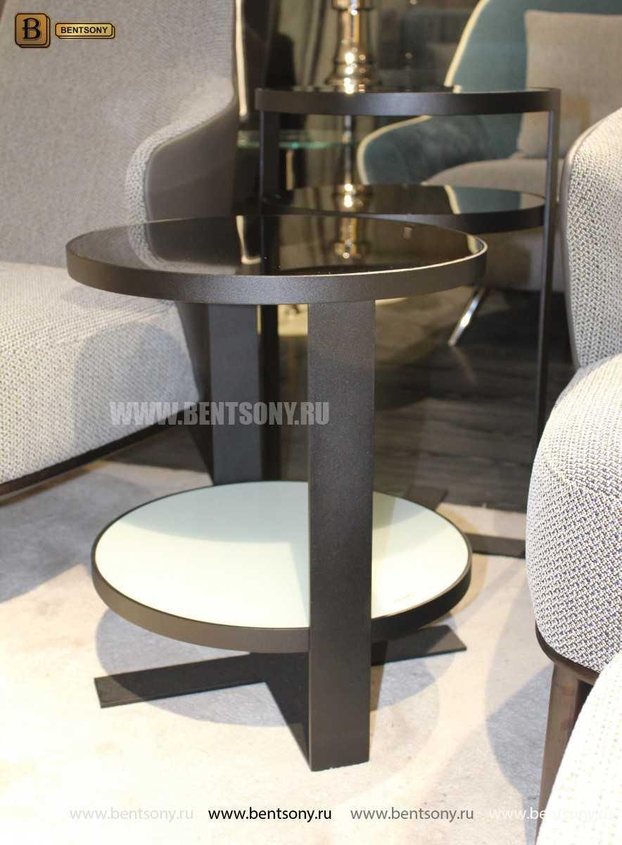 Круглый Приставной Стол (Тонированное стекло) для квартиры