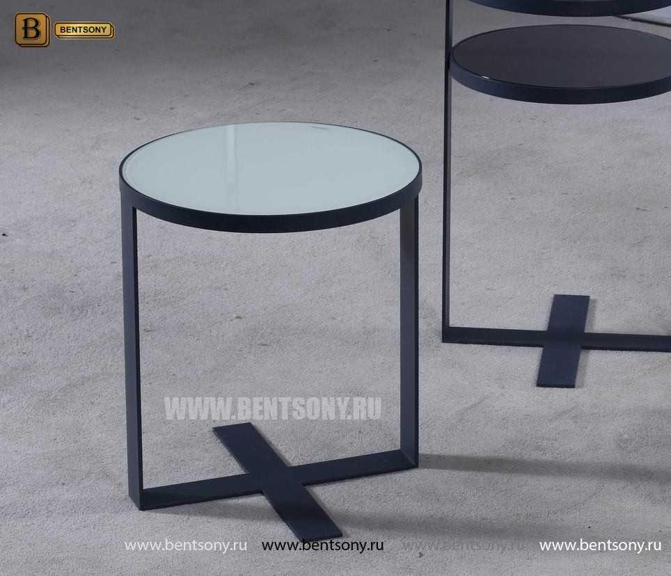 Круглый Приставной Стол (Тонированное стекло) в СПб