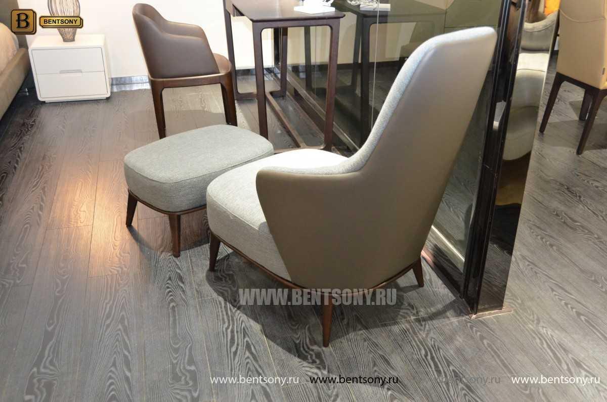 Кресло Бранд (Деревянные ножки, Пуф) фото