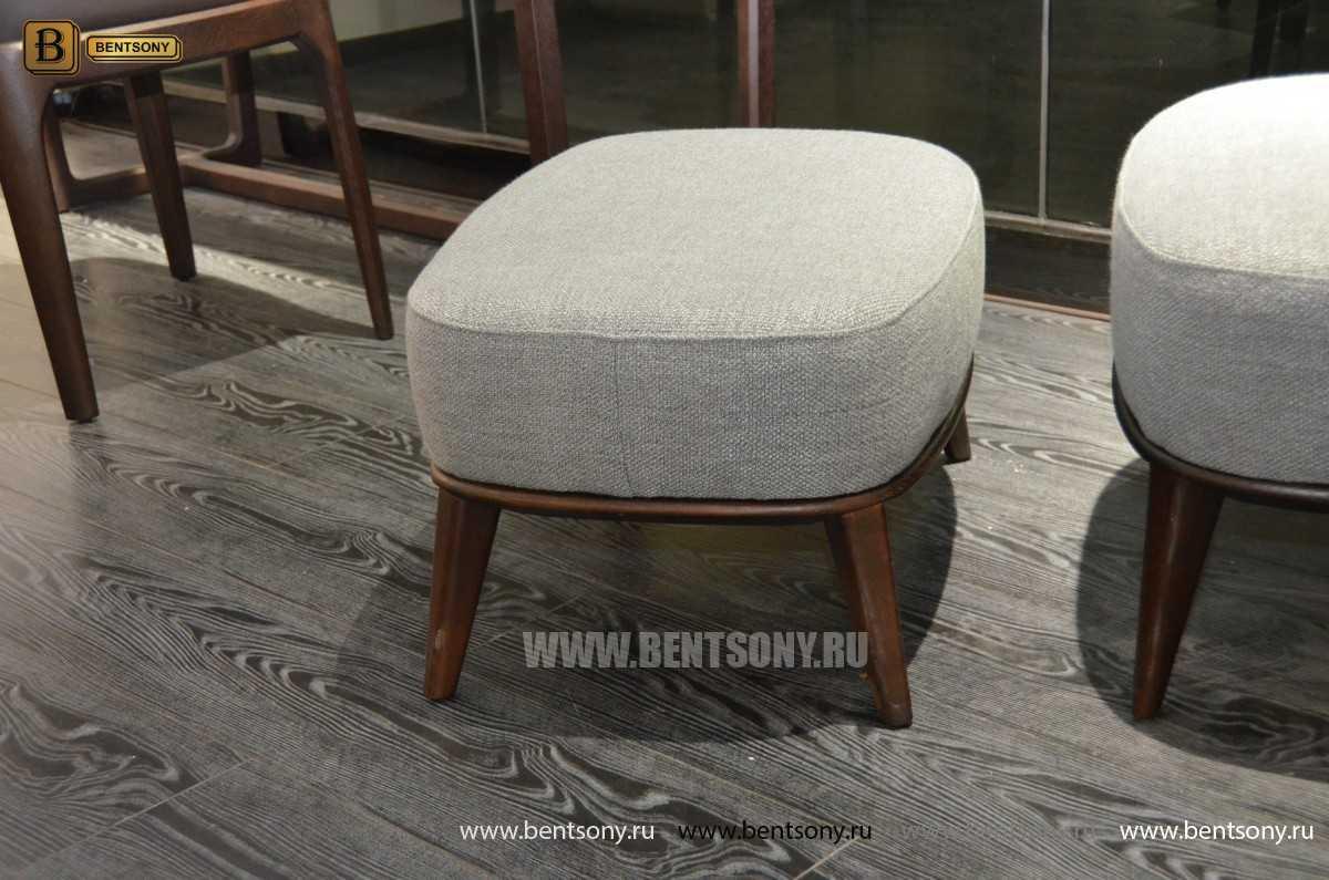 Кресло Бранд (Деревянные ножки, Пуф) в интерьере