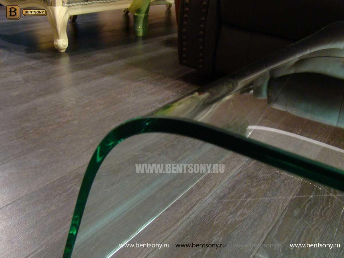 Стол Журнальный (Гнутое прозрачное стекло) магазин