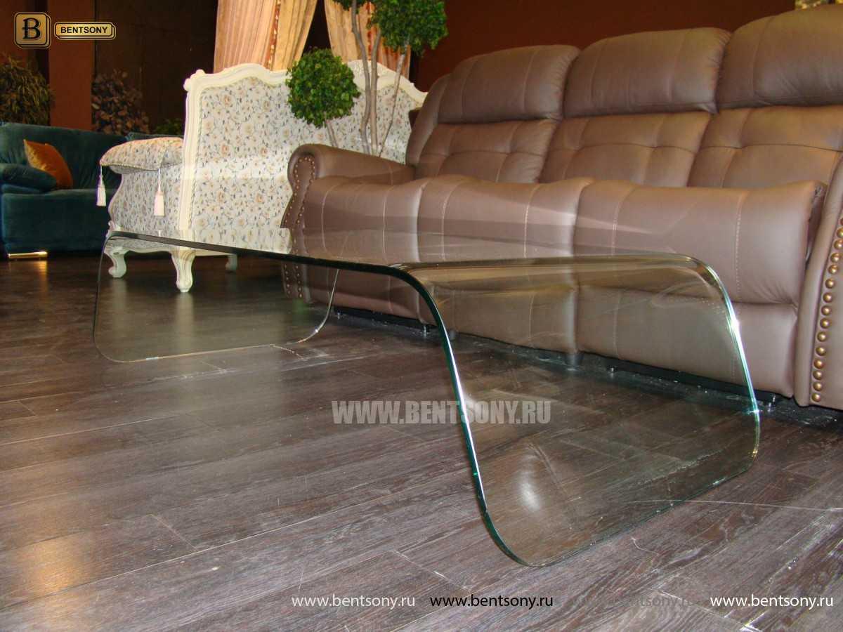 Стол Журнальный (Гнутое прозрачное стекло) для дома