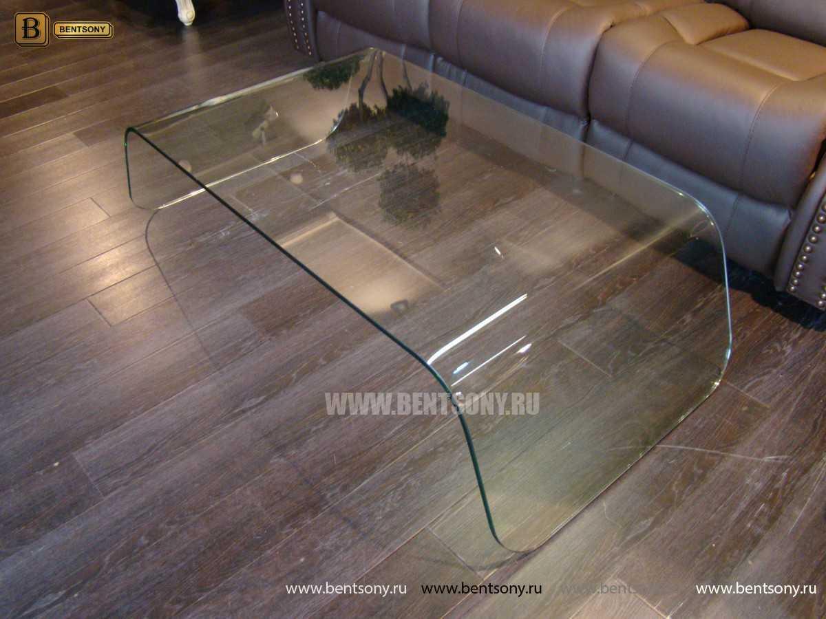 Стол Журнальный (Гнутое прозрачное стекло) в интерьере