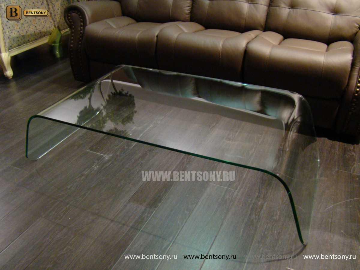 Стол Журнальный (Гнутое прозрачное стекло) магазин Москва