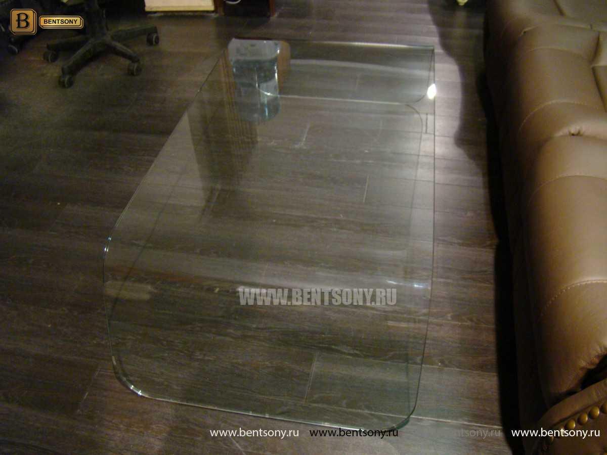 Стол Журнальный (Гнутое прозрачное стекло) каталог с ценами