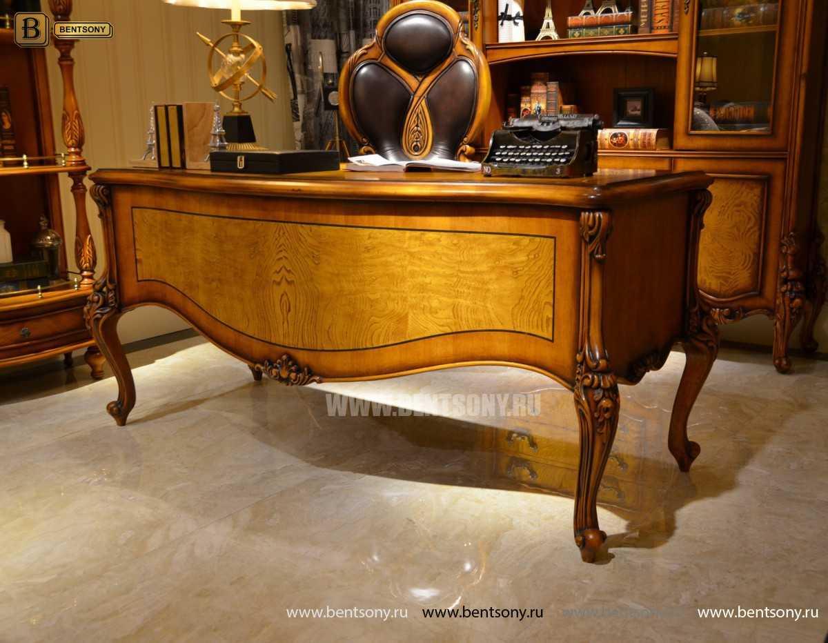 Письменный стол Дакота А (Массив дерева, резные ножки) купить