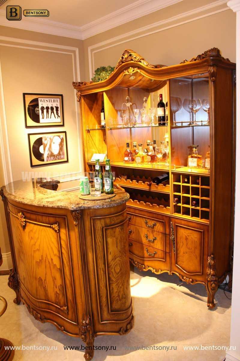 Буфет (Барный шкаф) Дакота (Классика, массив дерева) в Москве