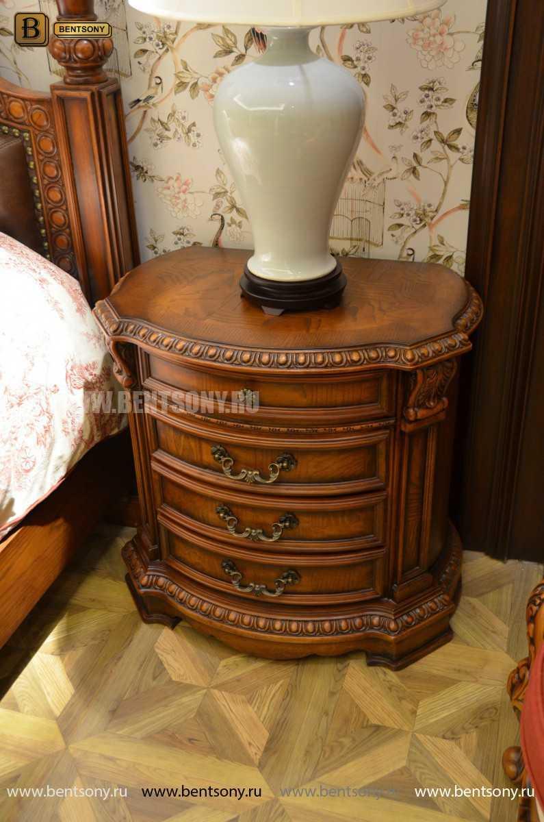 Тумба Прикроватная Монтана А (Полукруглая, массив дерева) каталог мебели с ценами