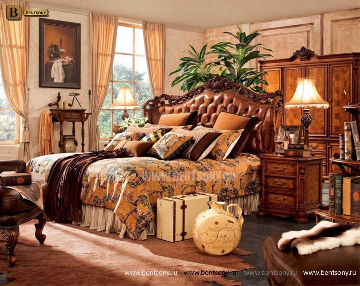 Кровать Феникс F (Классика, Натуральная Кожа)