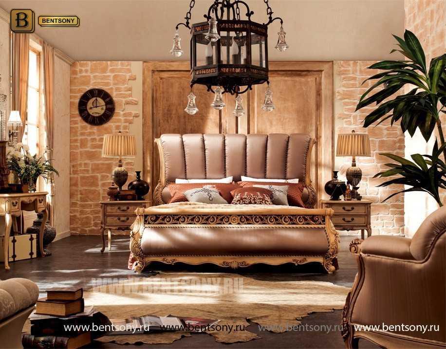 Кровать Феникс H (Классика, Натуральная Кожа) купить