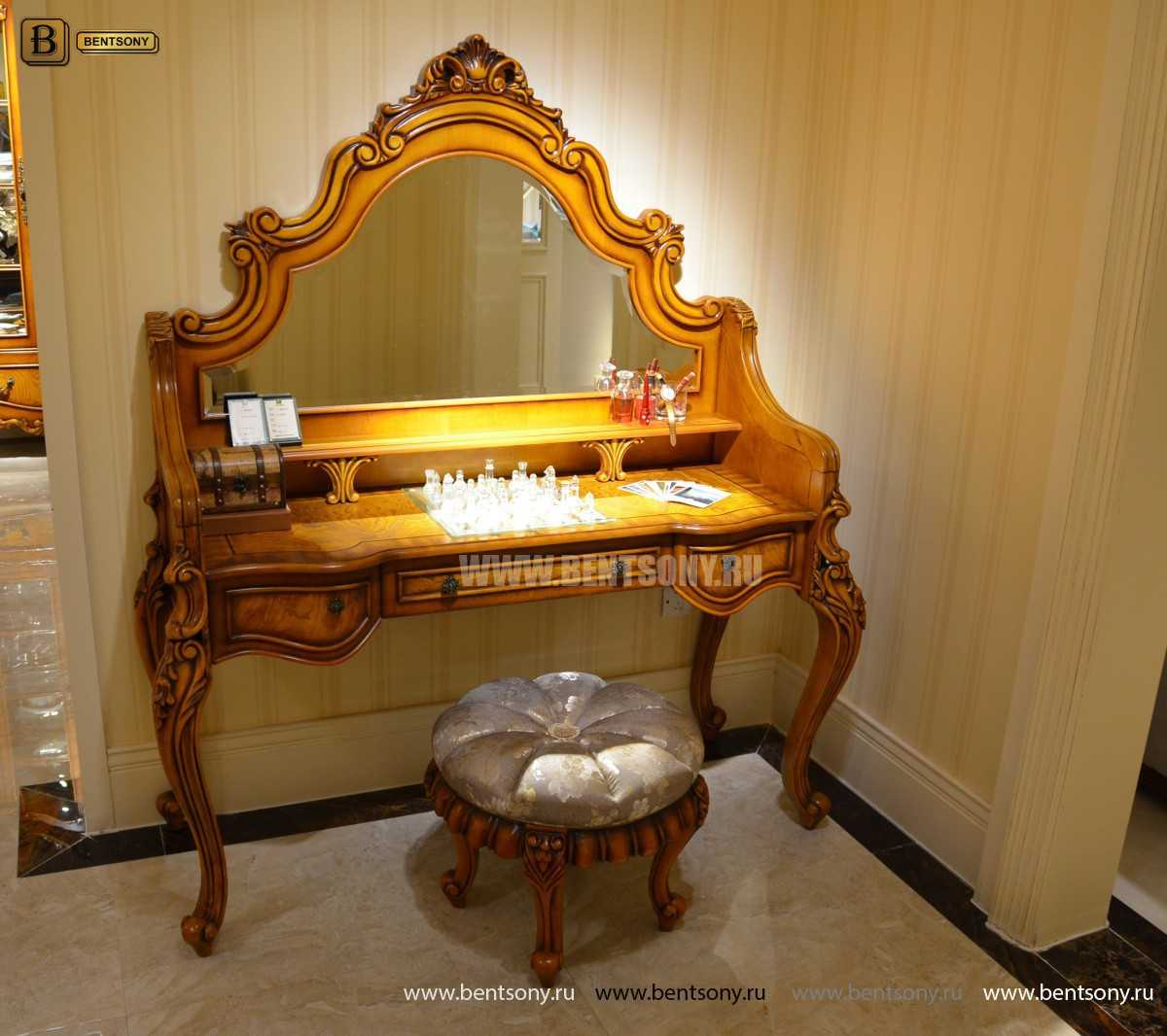Стол туалетный Дакота с зеркалом (Классика, массив дерева) каталог
