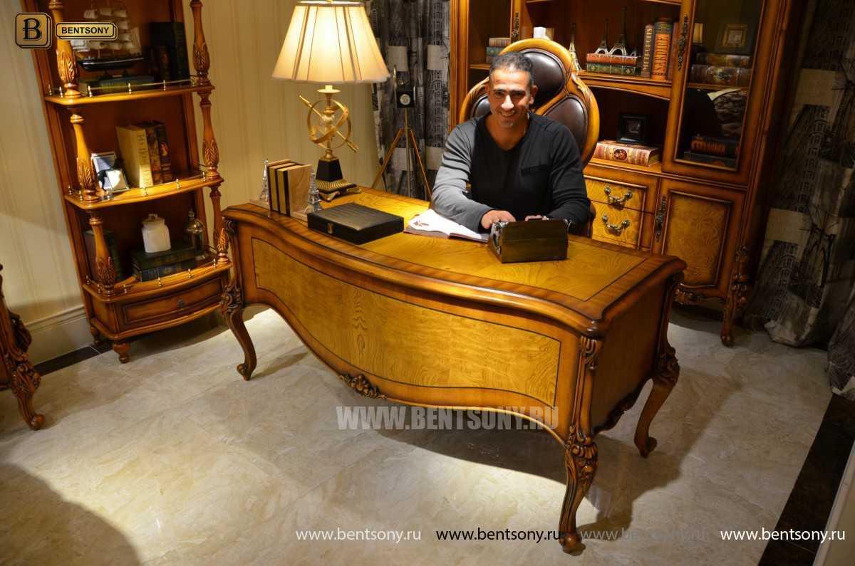 Письменный стол Дакота А (Массив дерева, резные ножки) в Москве