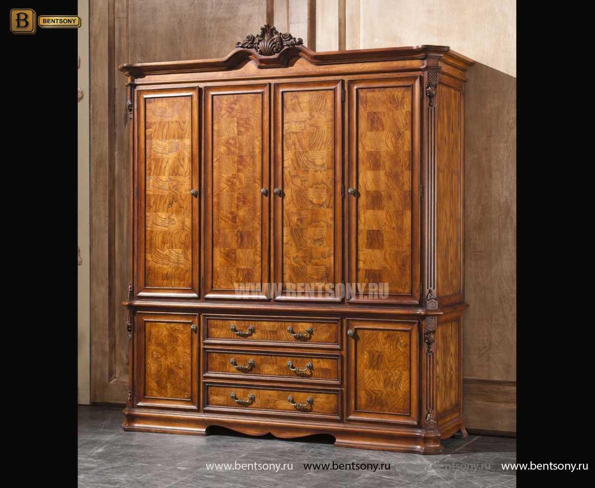 Шкаф 4-х дверный Феникс (Классика, массив дерева)